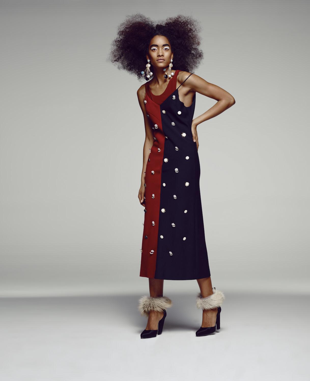 Charles's last make: Bi-Color Slip Dress, A/W 16.Courtesy of Charles Harbison.