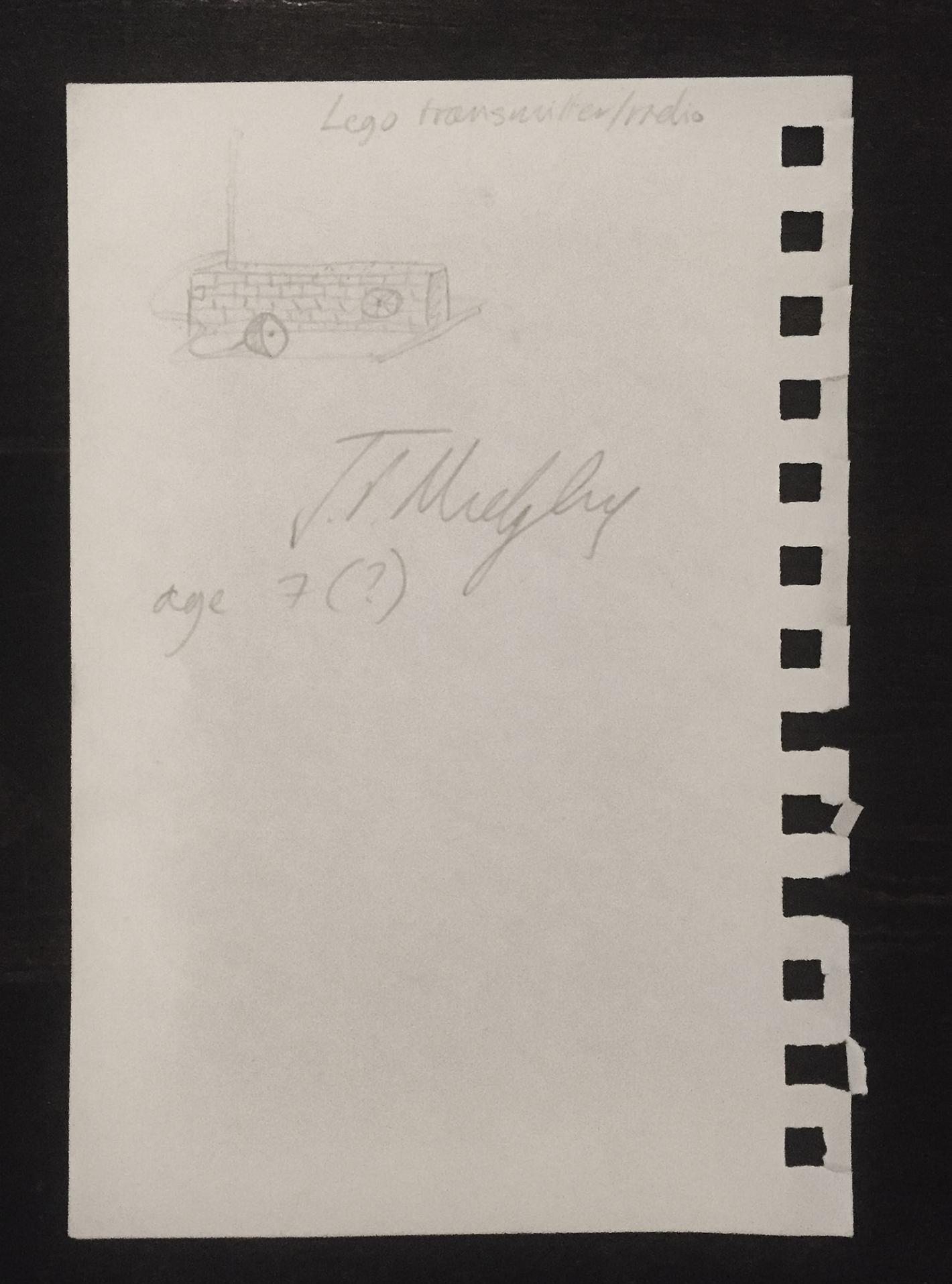 John's First Make: Radio Transmitter made from Legos, Age 7.