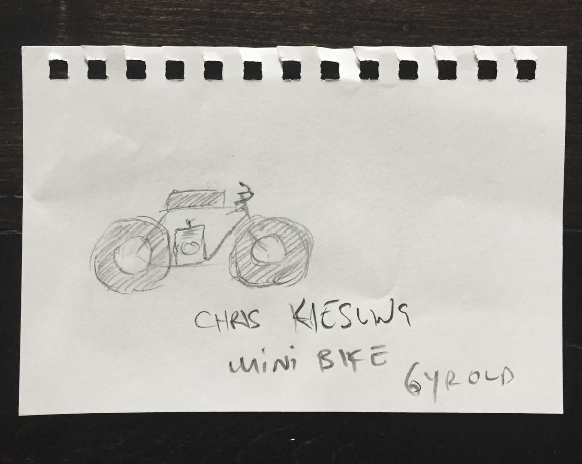Chris's First Make: Mini-Bike, Age 6.