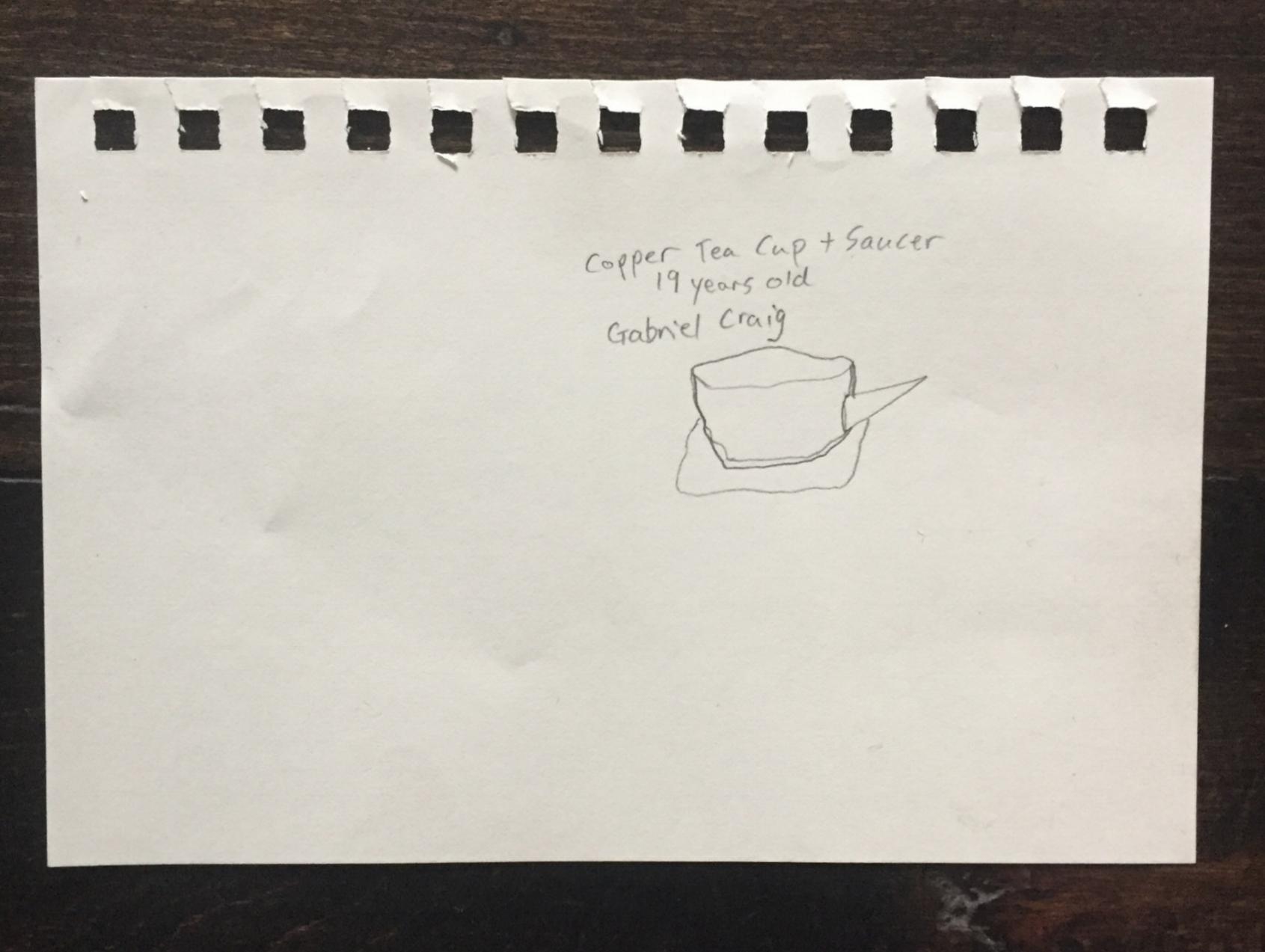 Gabriel's First Make: A teacup, Age 19.