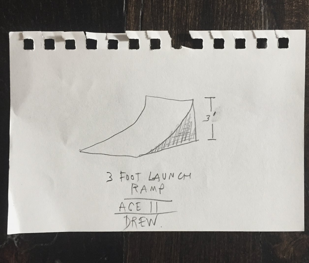 Drew's First Make: 3 Ft Launch Ramp, Age 11.