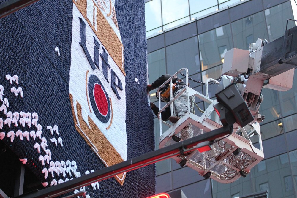 Miller Lite Holiday Billboard in Times Square, 2015. Courtesy of London Kaye.