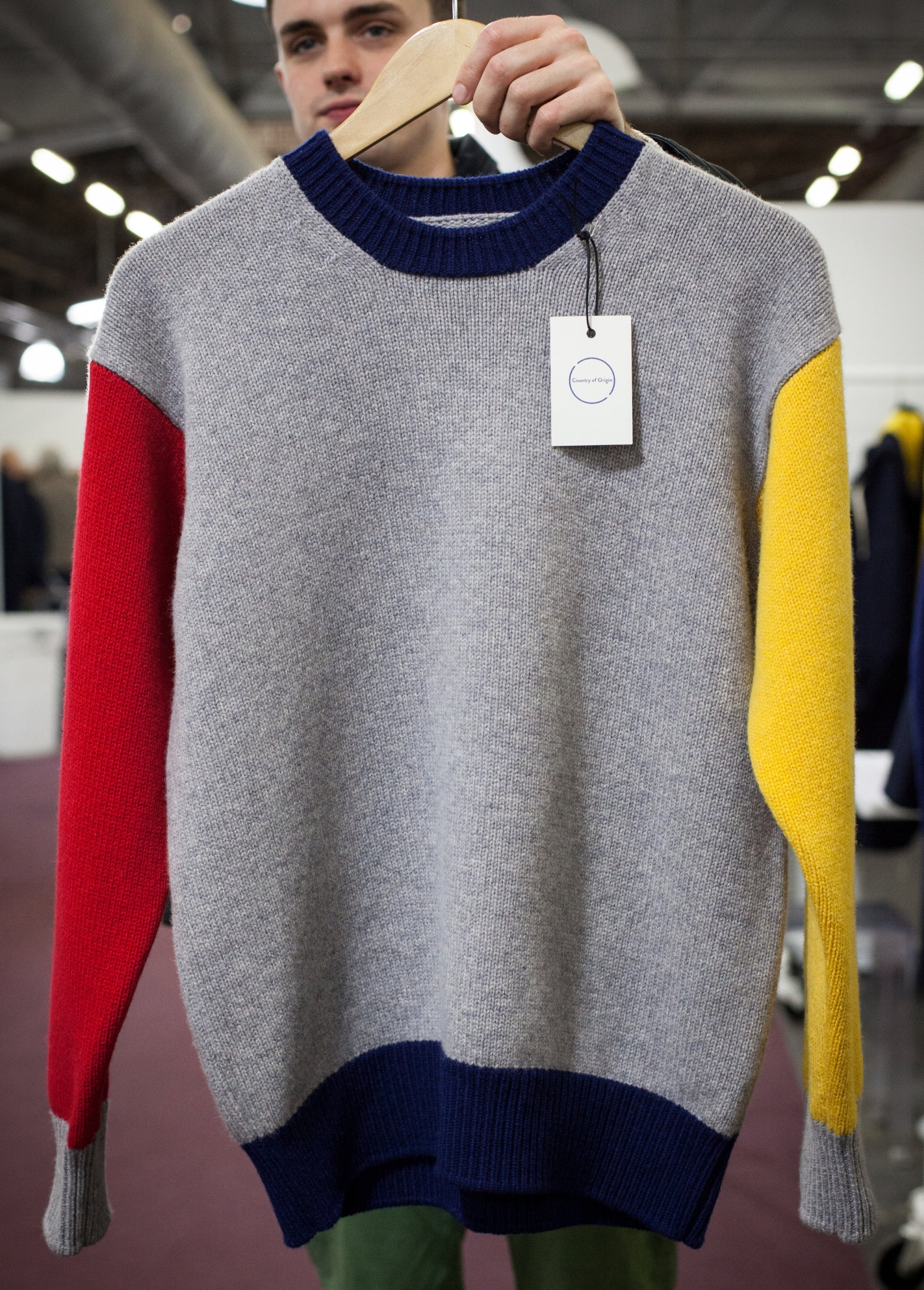 The Color Block Sweater.
