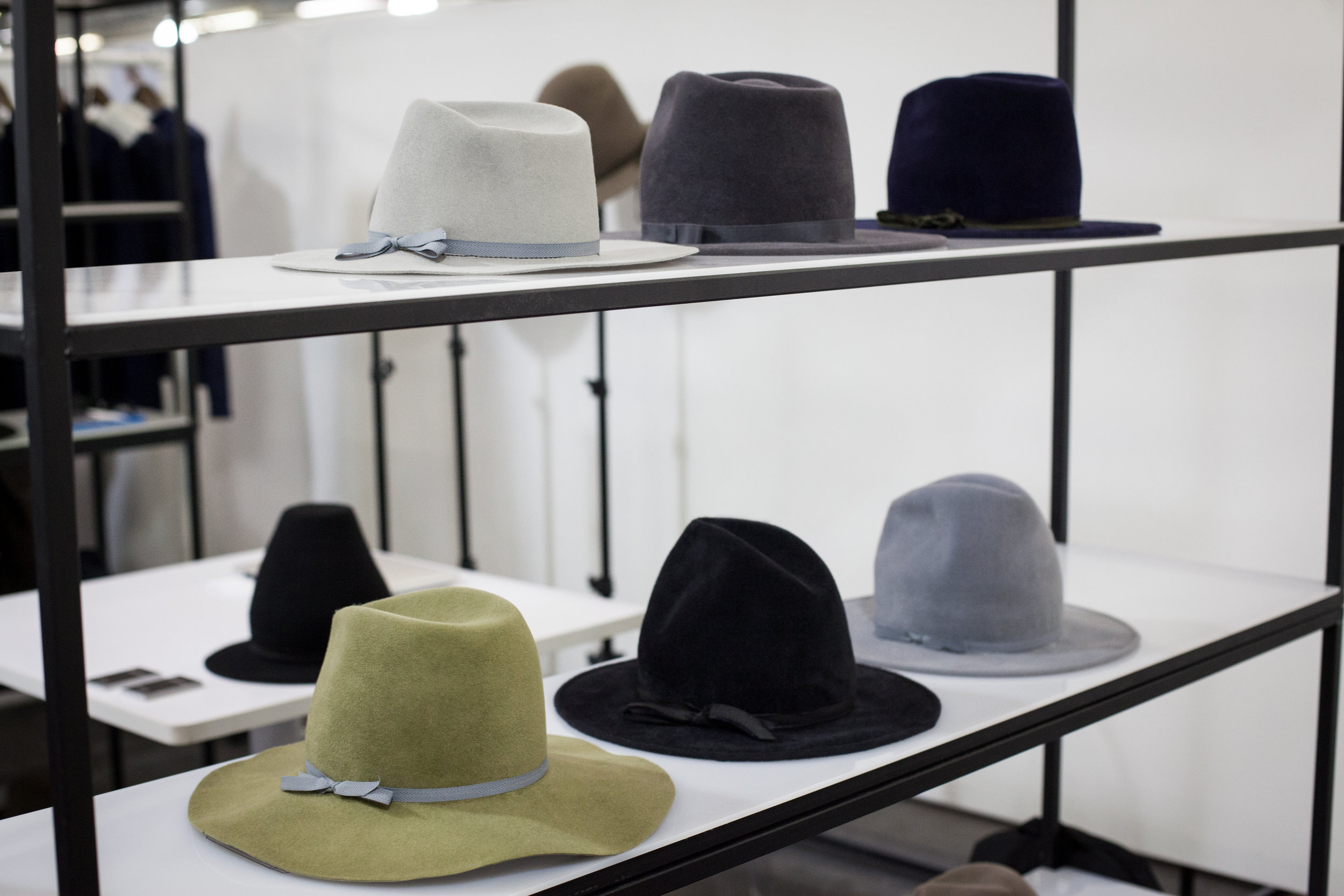 Rodney's display of hats.