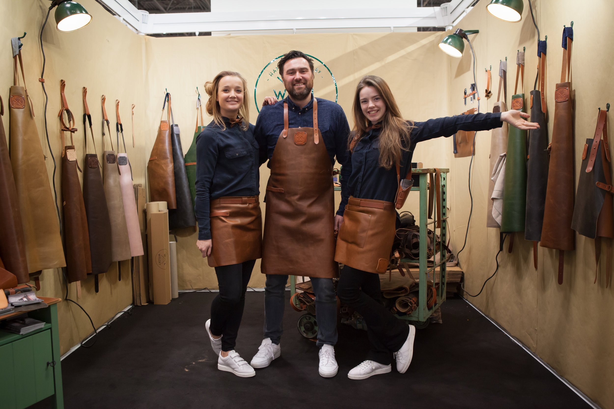 Left to right: Bieke van Orten, Frank Abbenhuis and Daniëlle Siobhán Mol at their Witloft booth at NY NOW.