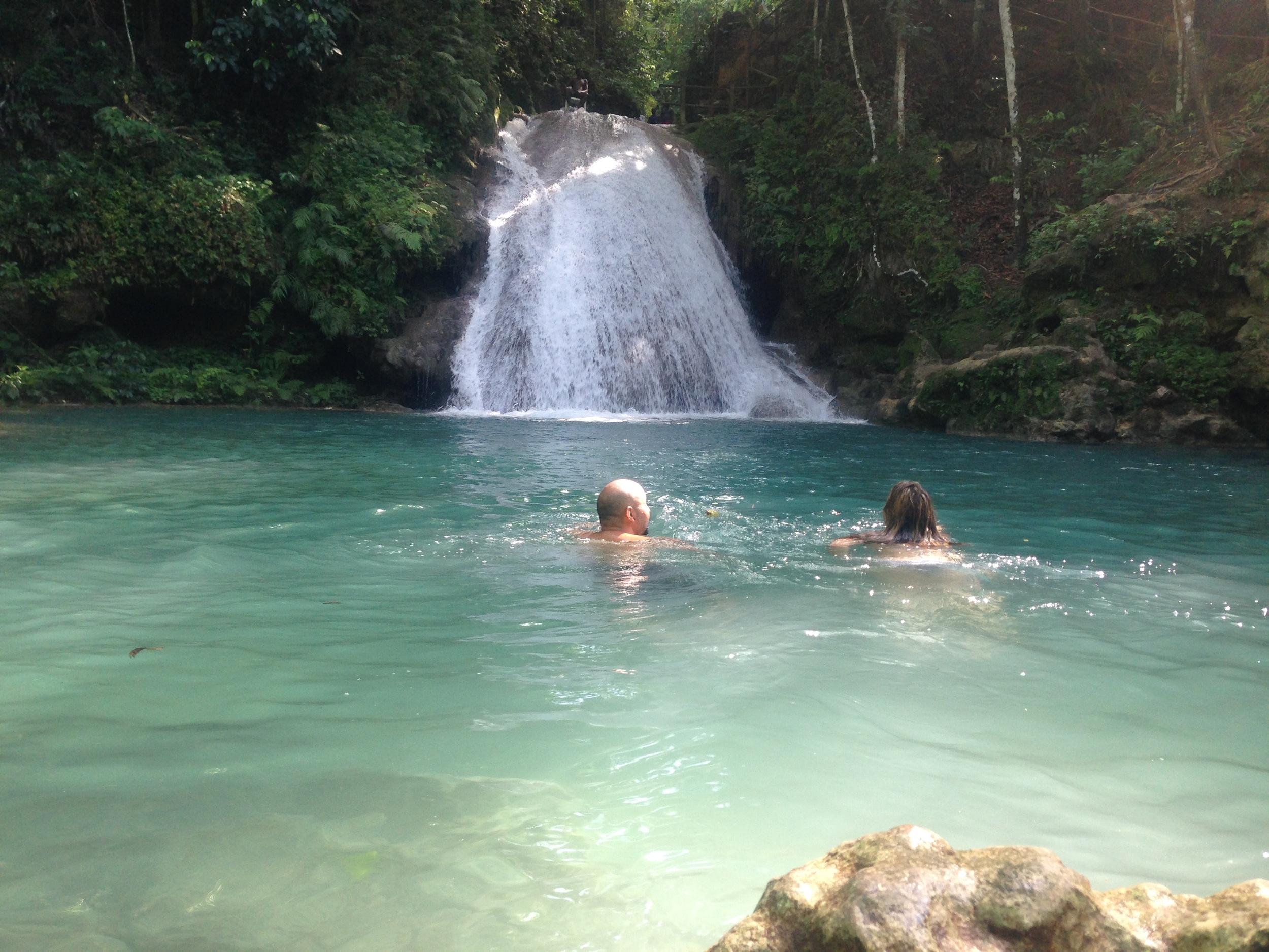 Ocho Rios, Jamaica. The Blue hole.