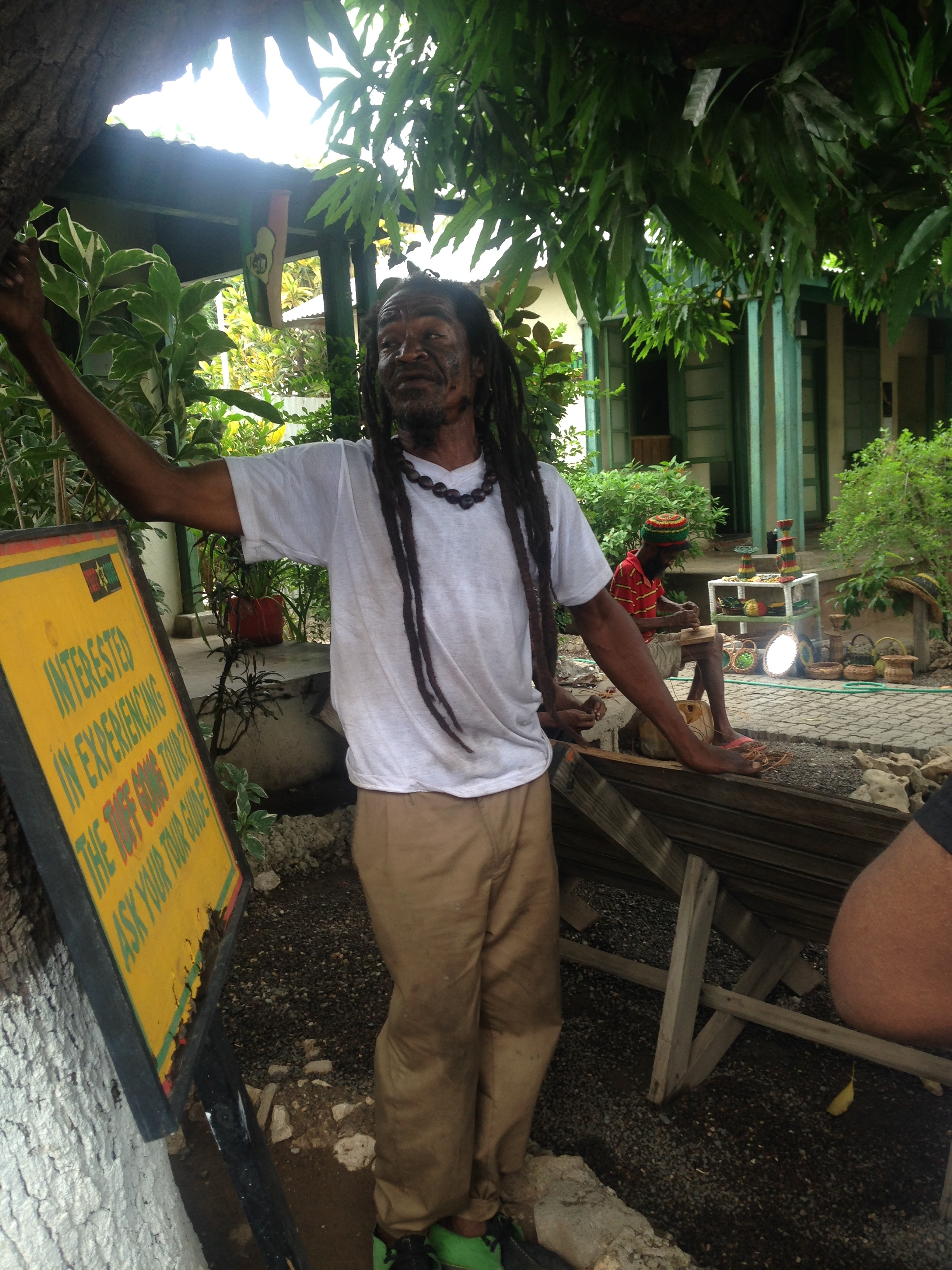 Trench town yard. Trench town, Jamaica
