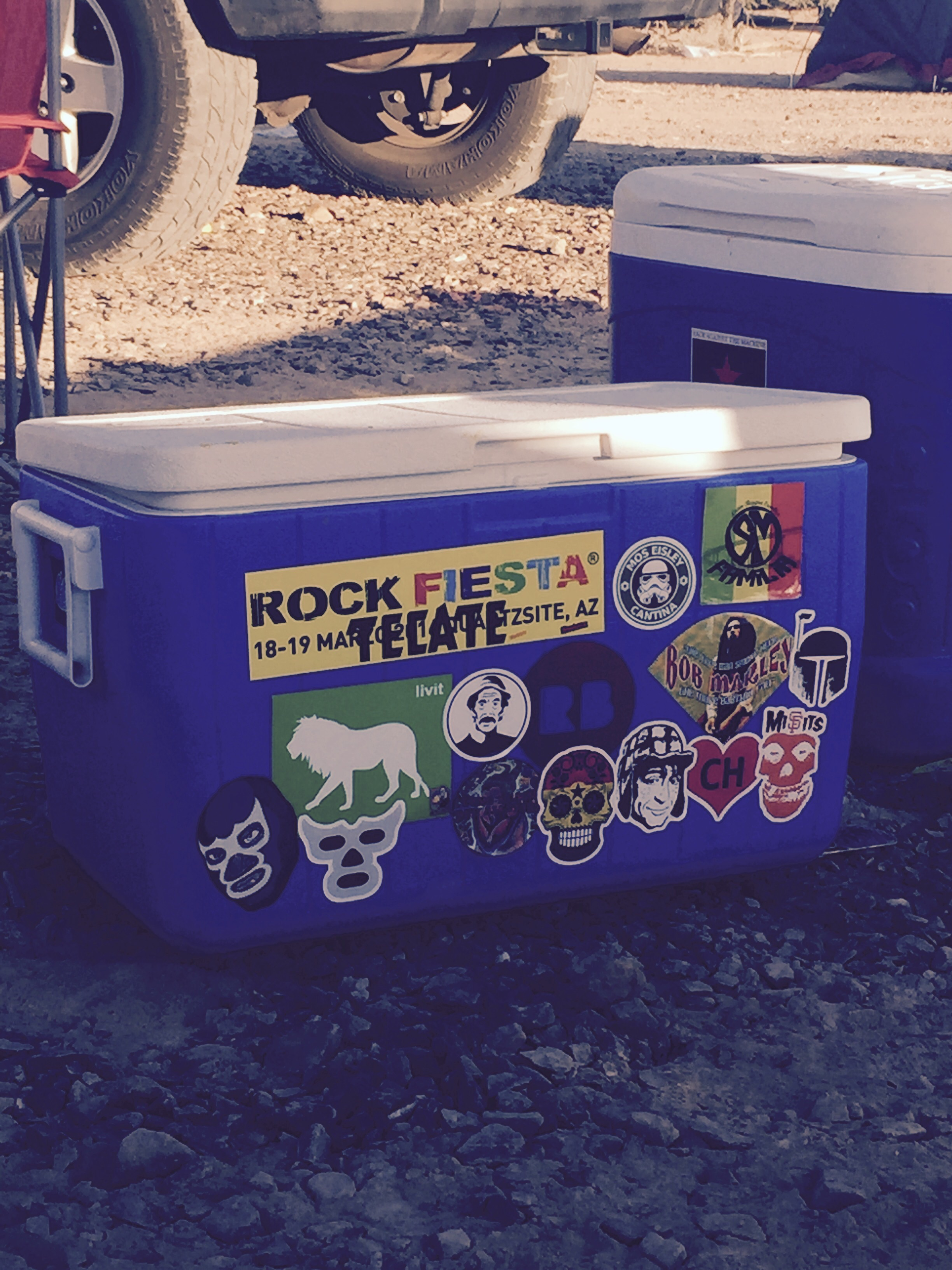 Camping refrigerator.