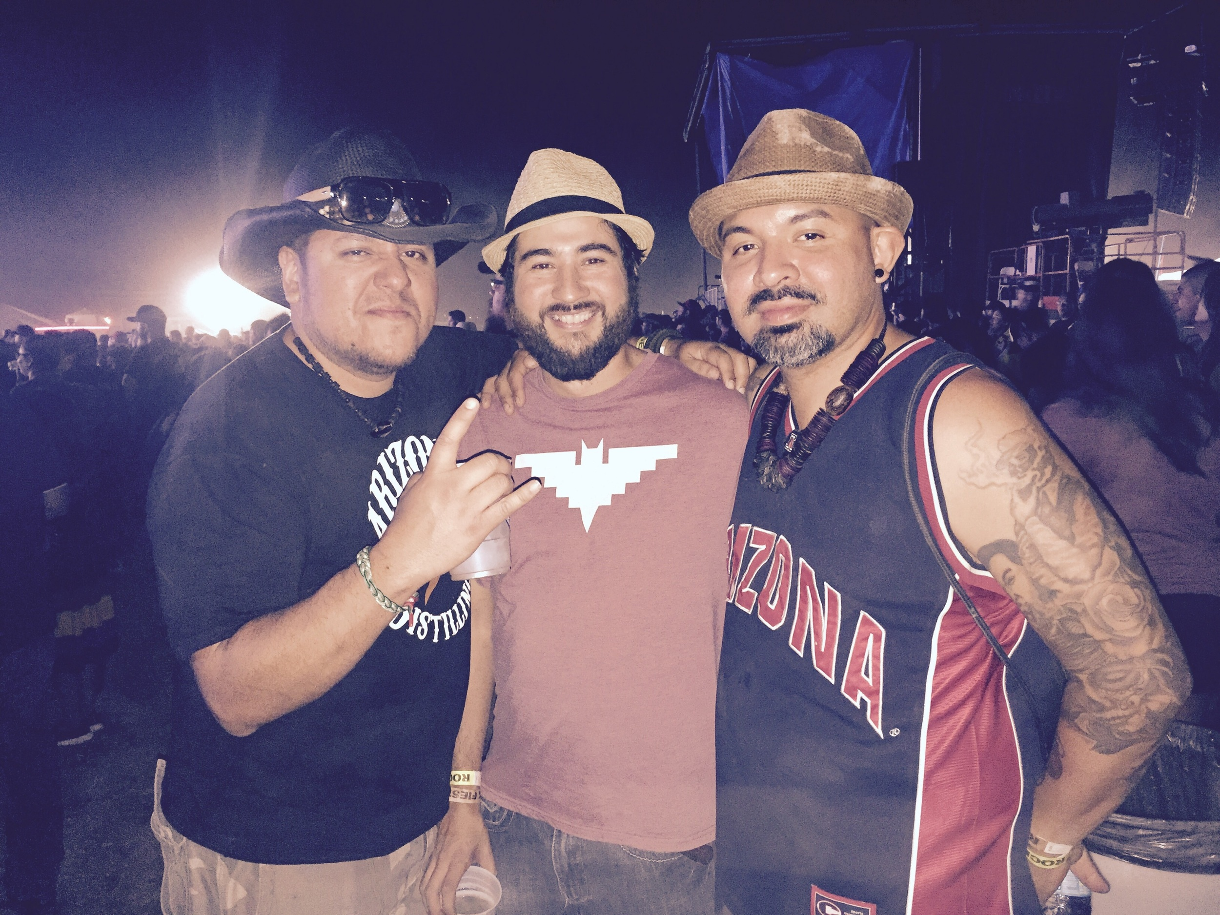 Miguel, Marcos and Gabe at RockFiesta 2016.