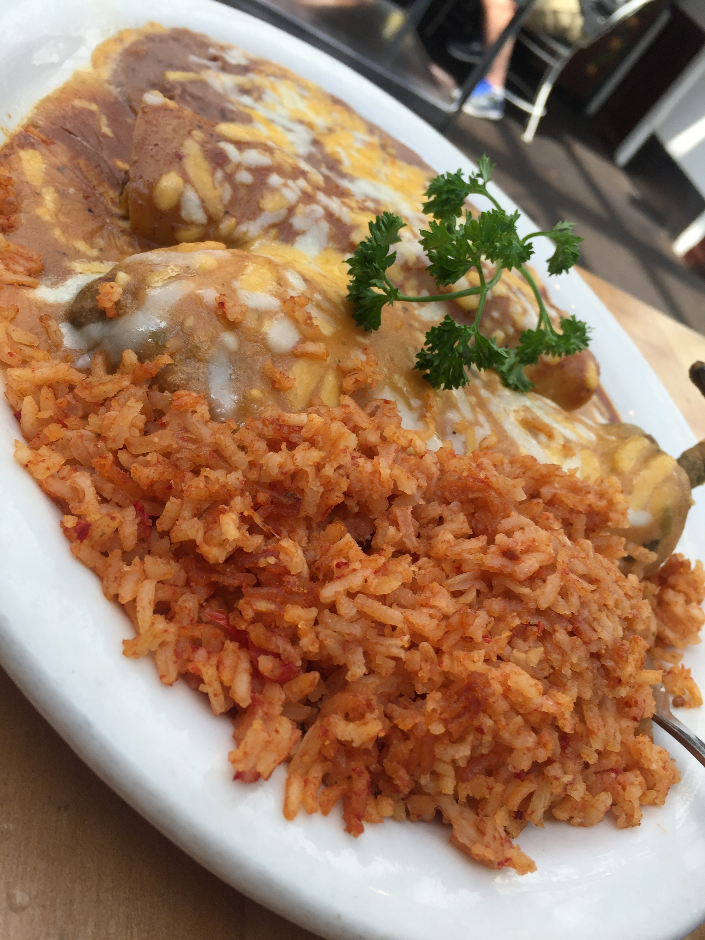 Chile Relleno plate, Old Town Cafe