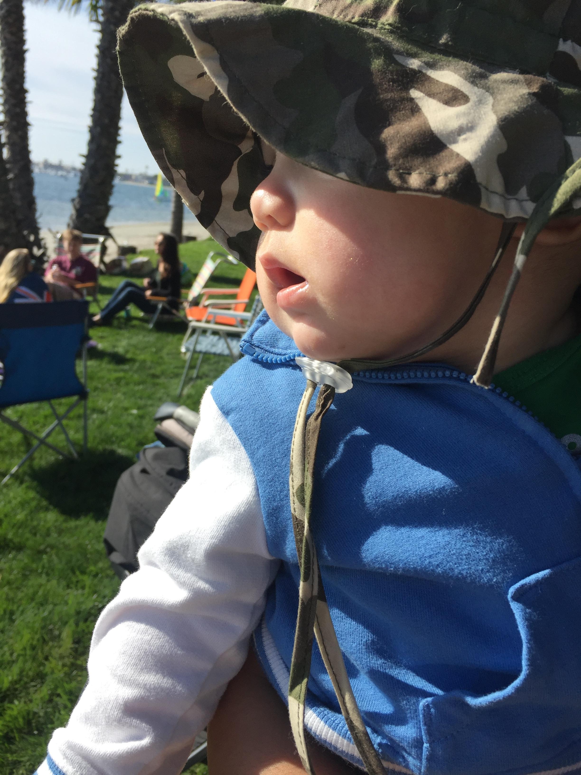 Babies first beach vacation