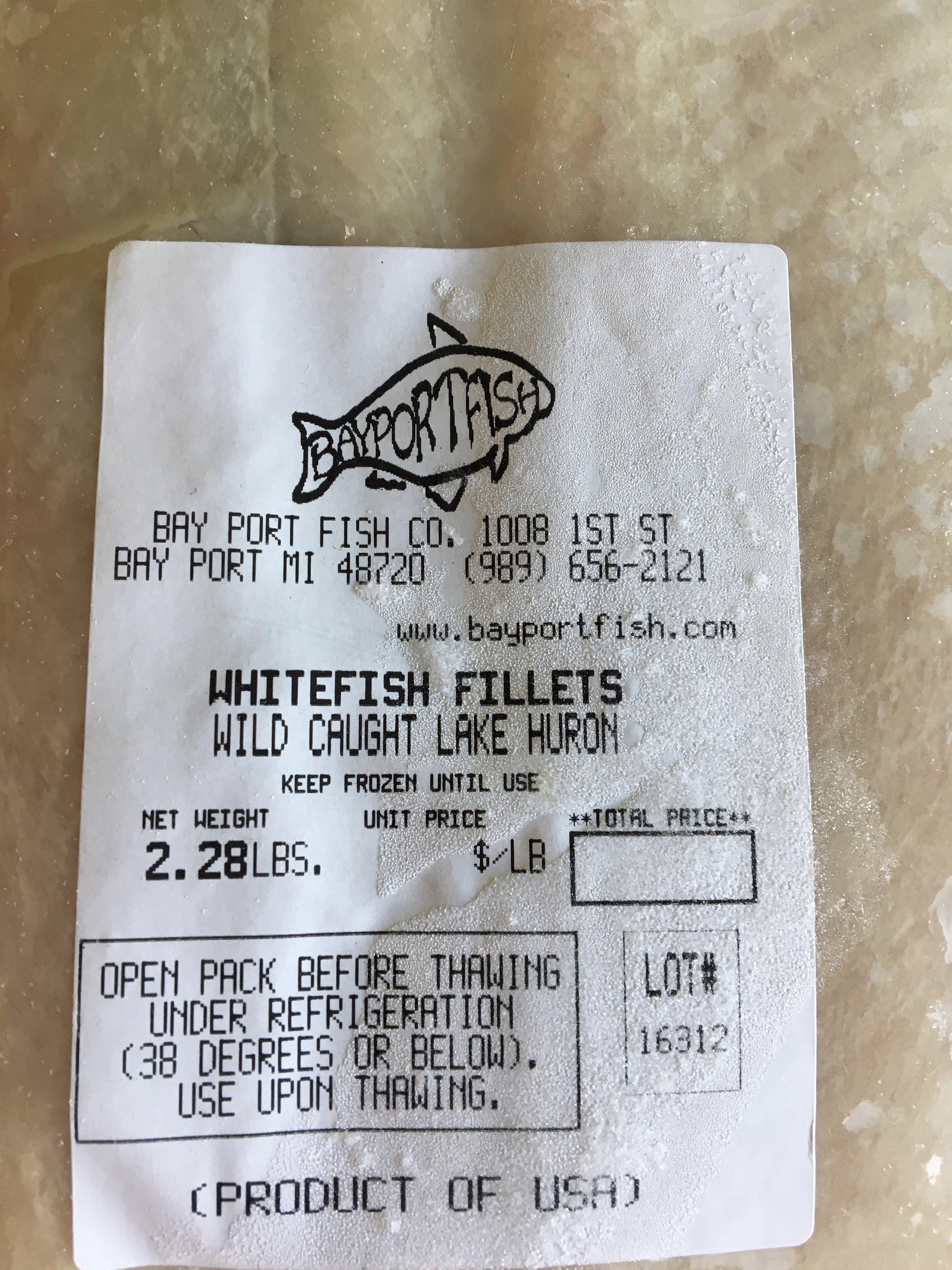 wild caught lake huron whitefish