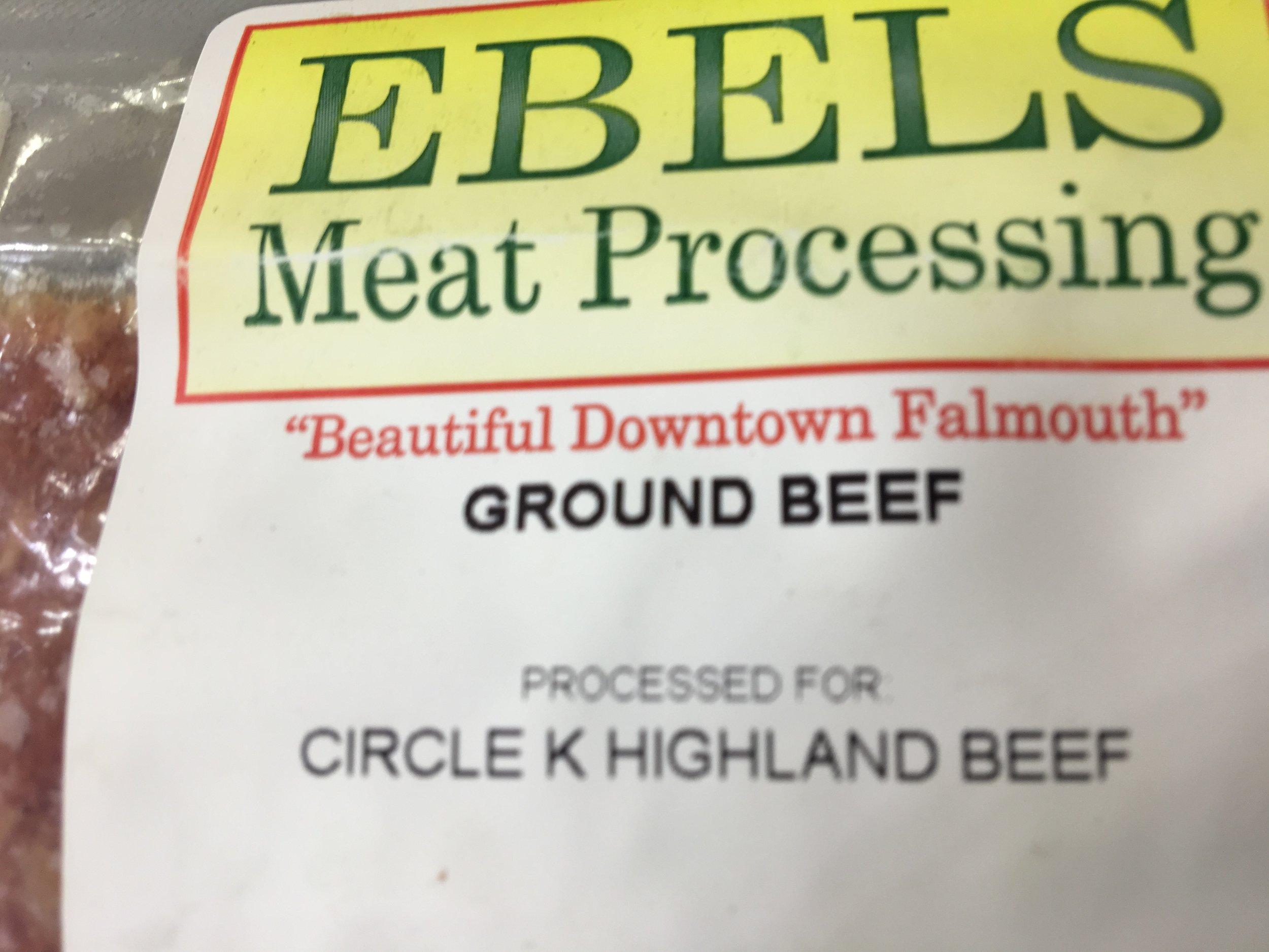 Highland cattle ground beef