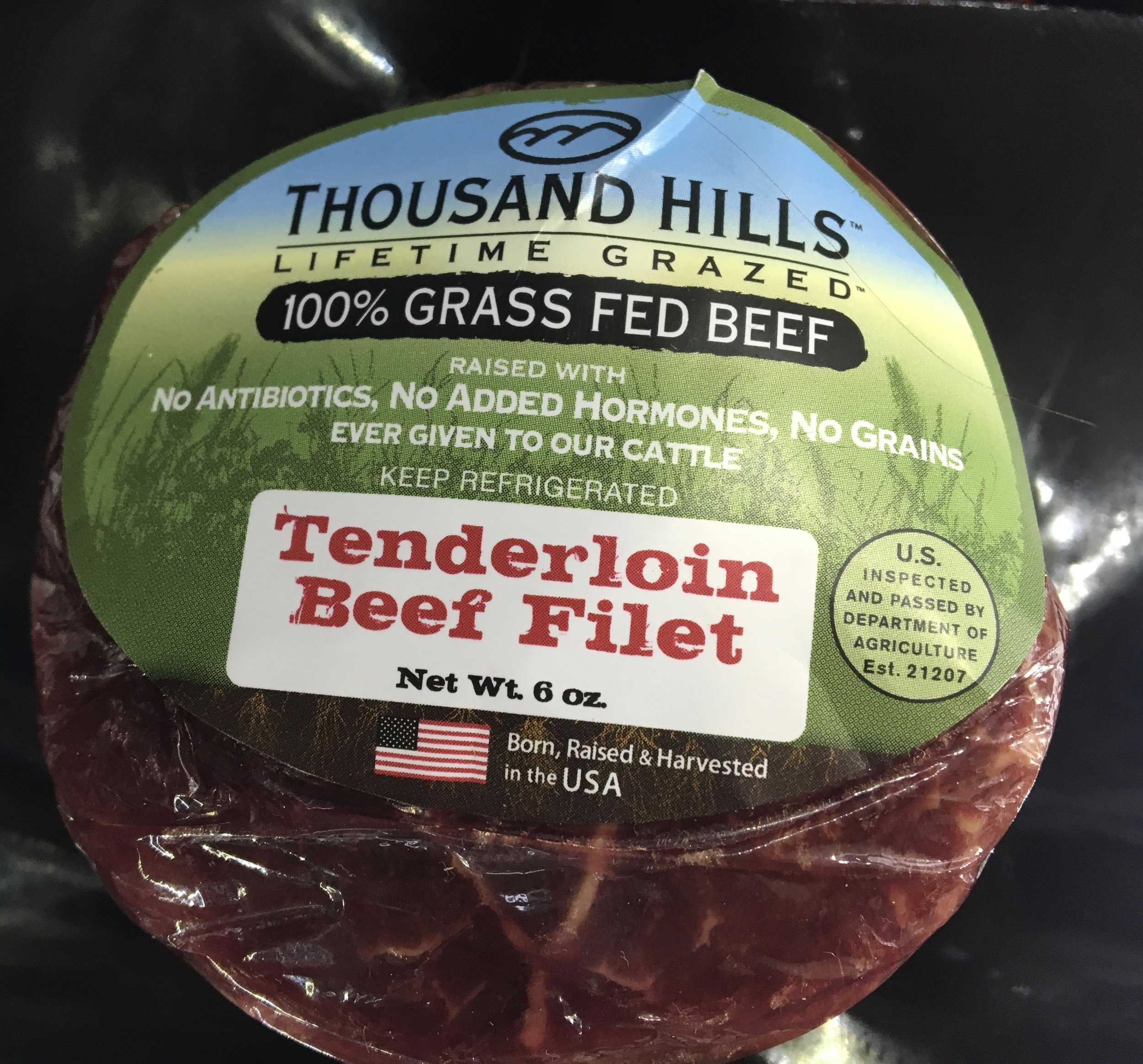 Thousand hills 100% grass fed steaks and ground
