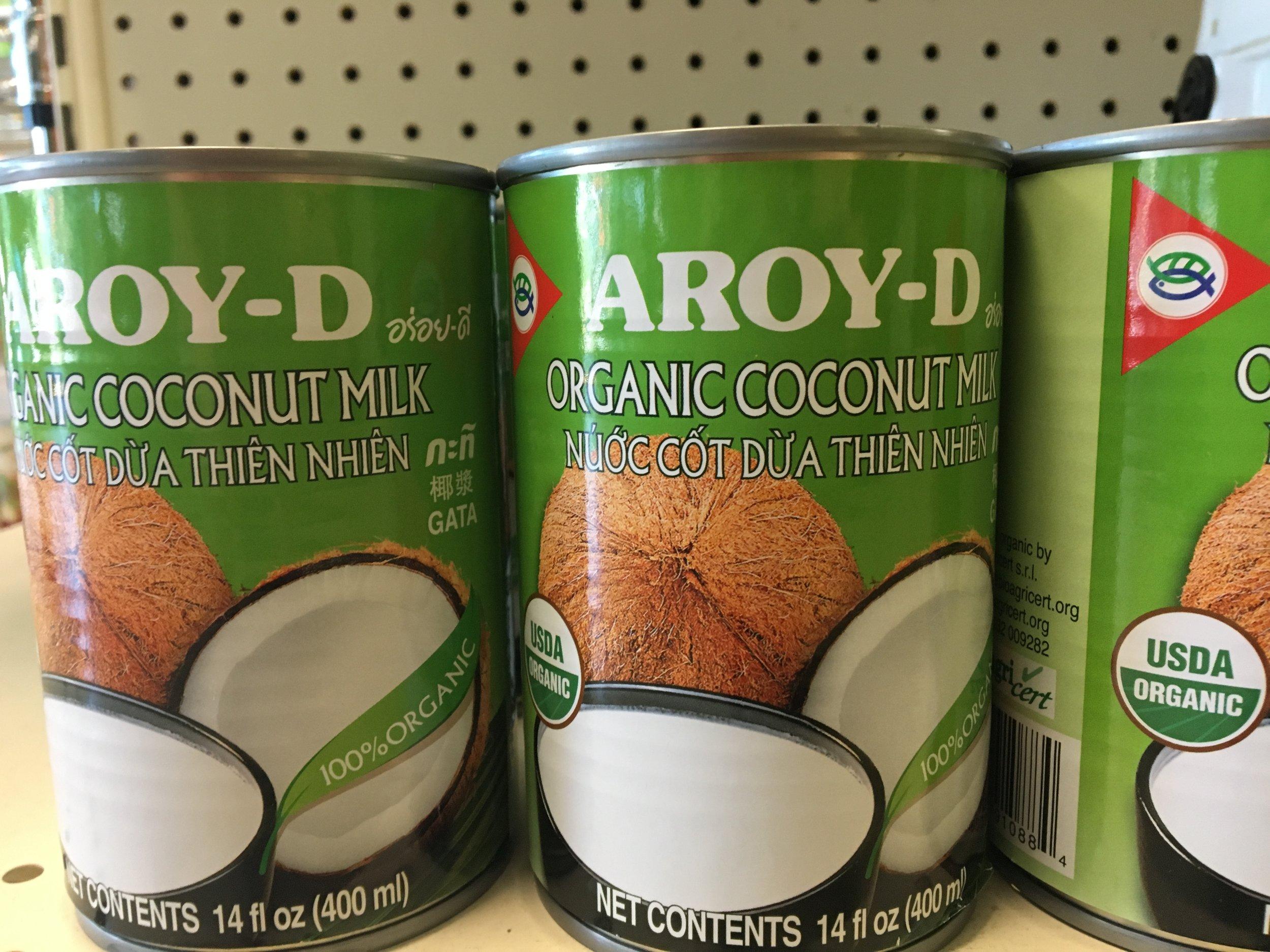 organic coconut milk (we provide case discounts)