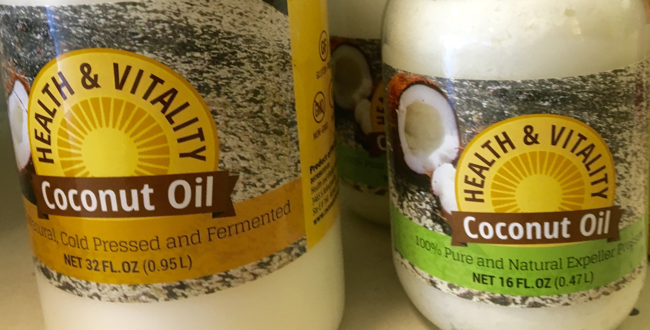 coconut oil in various sizes