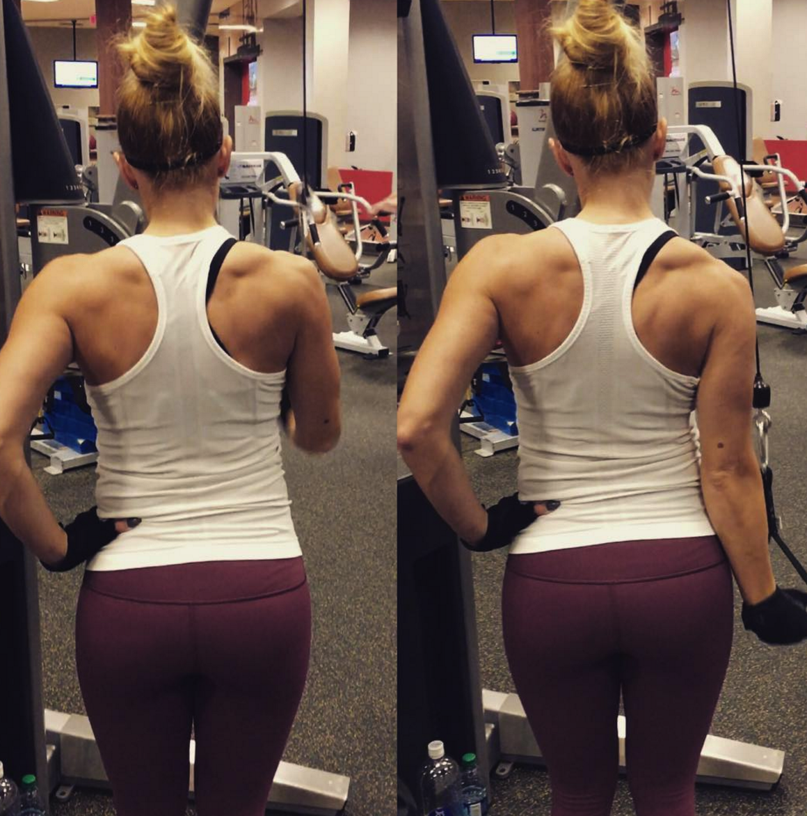 Muscle definition vs. bulking up: toning and definition is achievable with proper diet and exercise, while bulking up for women is much harder to achieve, unless it is your intended purpose & target.