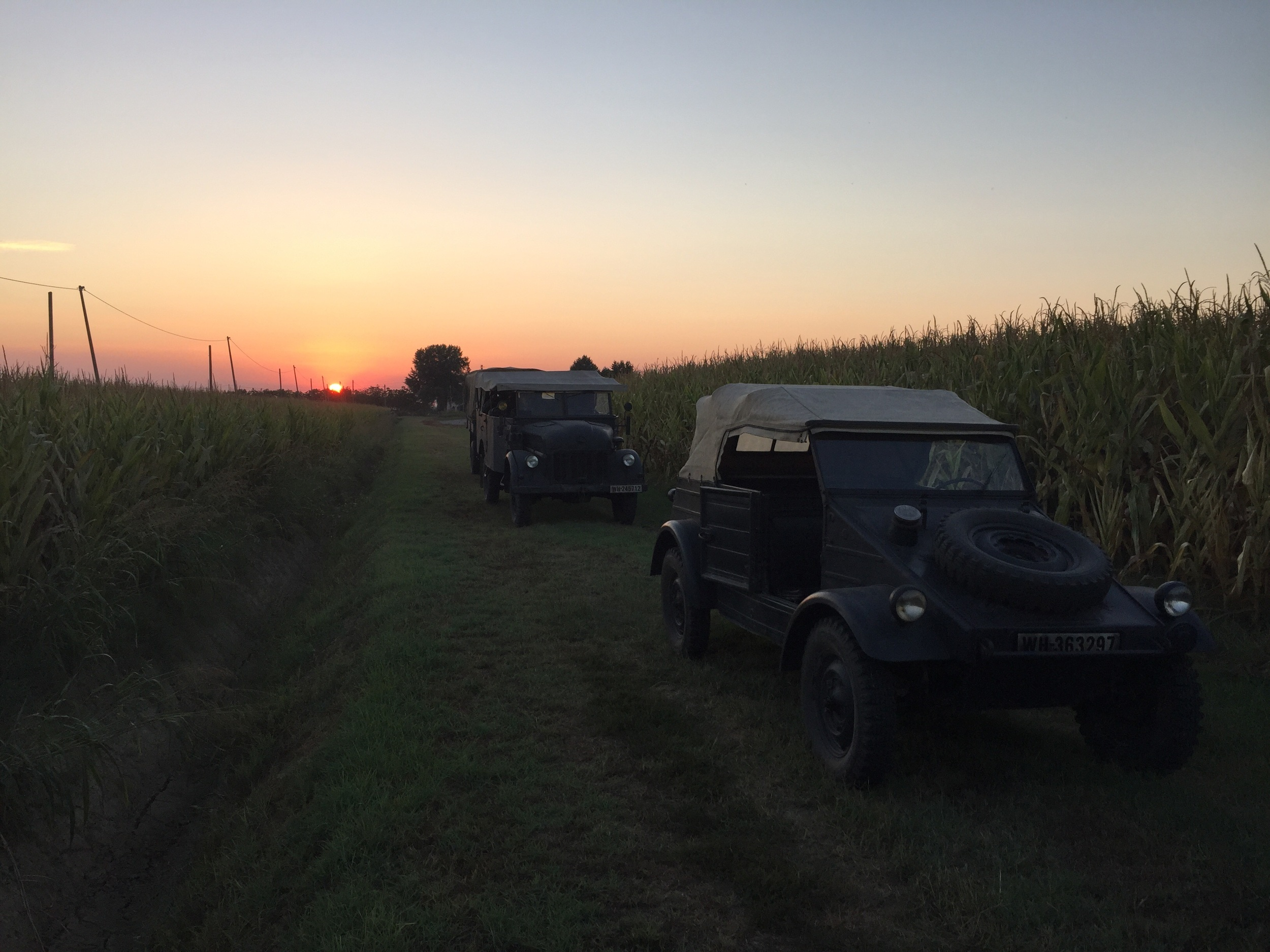 """Kübelwagen"", Steyr 1500A in front of the sunset"