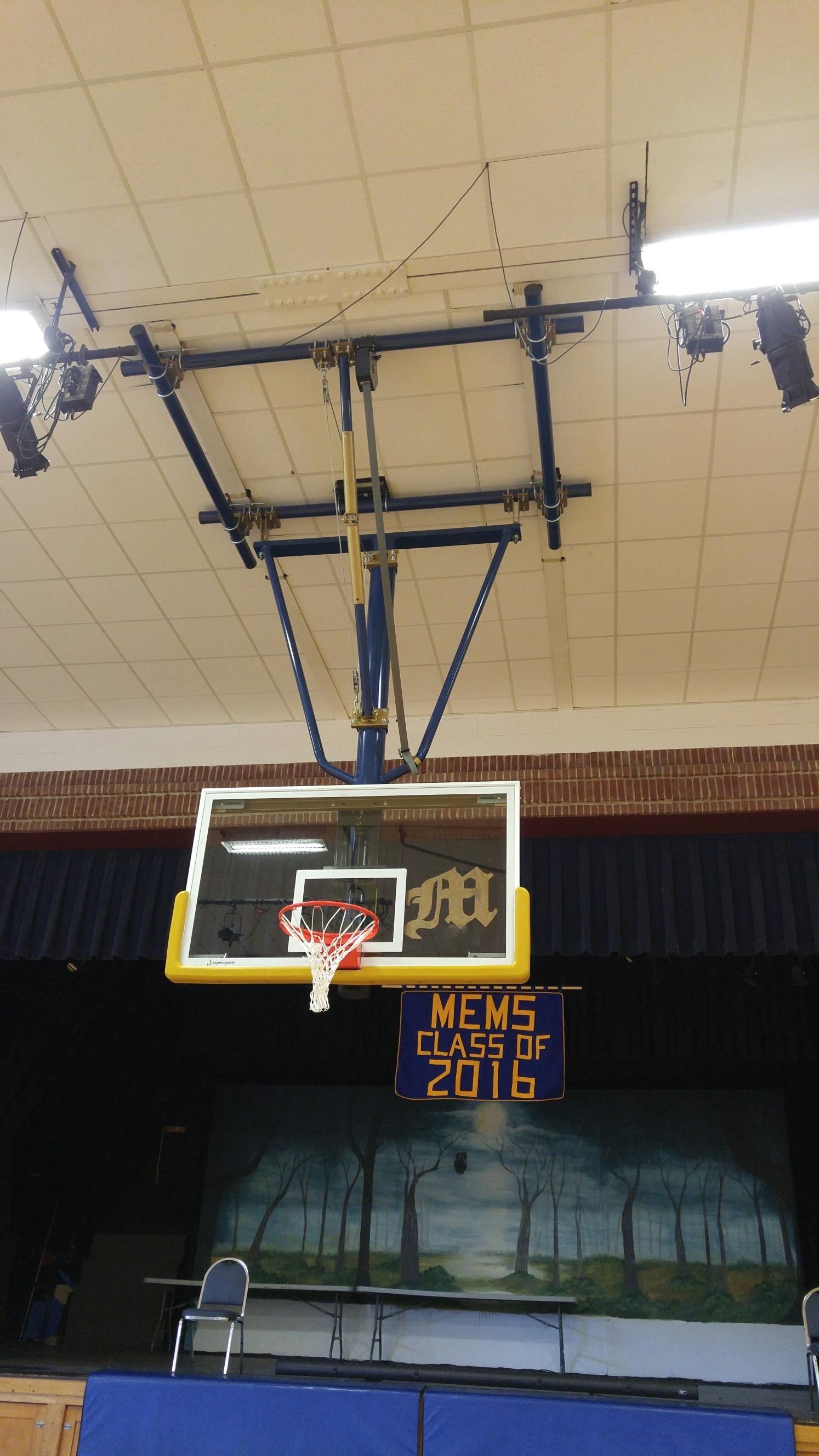 Basketball hoop repair