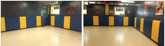 Development Center in South Orange, NJ with new gym wall pads installed