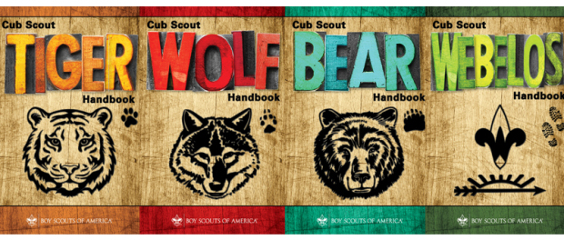 Cub Scout handbooks: Tiger (1st grade), Wolf (2nd grade), Bear (3rd grade), Webelos (4th & 5th grade) are available at the Eugene store or ordered at 541.284.43 81.