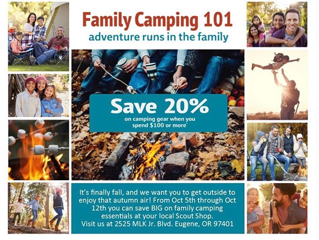 Lots of deals coming out of the Scout shop! #familycamping #beprepared