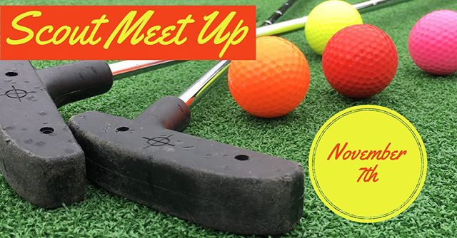 Calling all Scouts and their friends age 14-21! It's our monthly Scout meet up where we have fun with our friends. Every month a different activity and location are selected. This month we are playing mini golf at Putters (prices are $5.50 students and $6.50 for adults) pizza is provided.  See you all there! Location address: Putter Family Entertainment 1156 OR-99 Eugene, Or