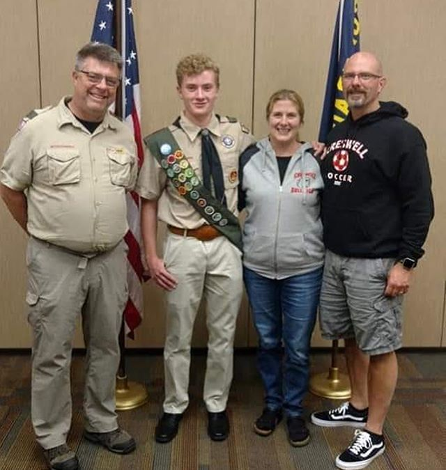 Please join us in congratulating our newest Eagle Scout Grant Marshall out of Troop 28!!! Way to go Grant! #eaglescout #beascout #oregontrailcouncil #oregontrailcouncilbsa #otcbsa