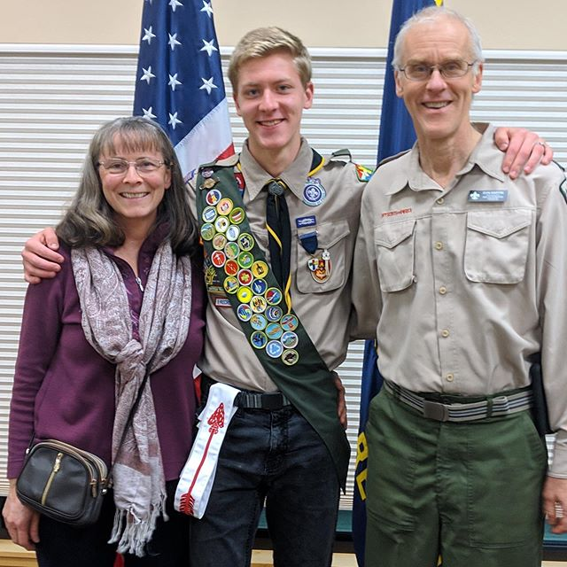 Congratulations Enoch Martin from Troop 60 for achieving the rank of Eagle! 🦅🙌🙌 #eaglescout