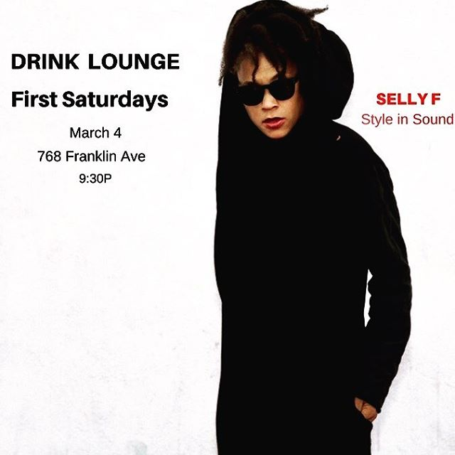 2Nite 3/3 and Tom 3/4 @drinklounge  No Sleep Till Brooklyn!  #firstfriday #firstsaturdays #drinklounge #crownheights #specialtycocktails #grooveisintheheart #boogie #hiphop #naija #reggae #whiskey #femaledjsrock #musicislove #musicistheweapon #musicislife #getright