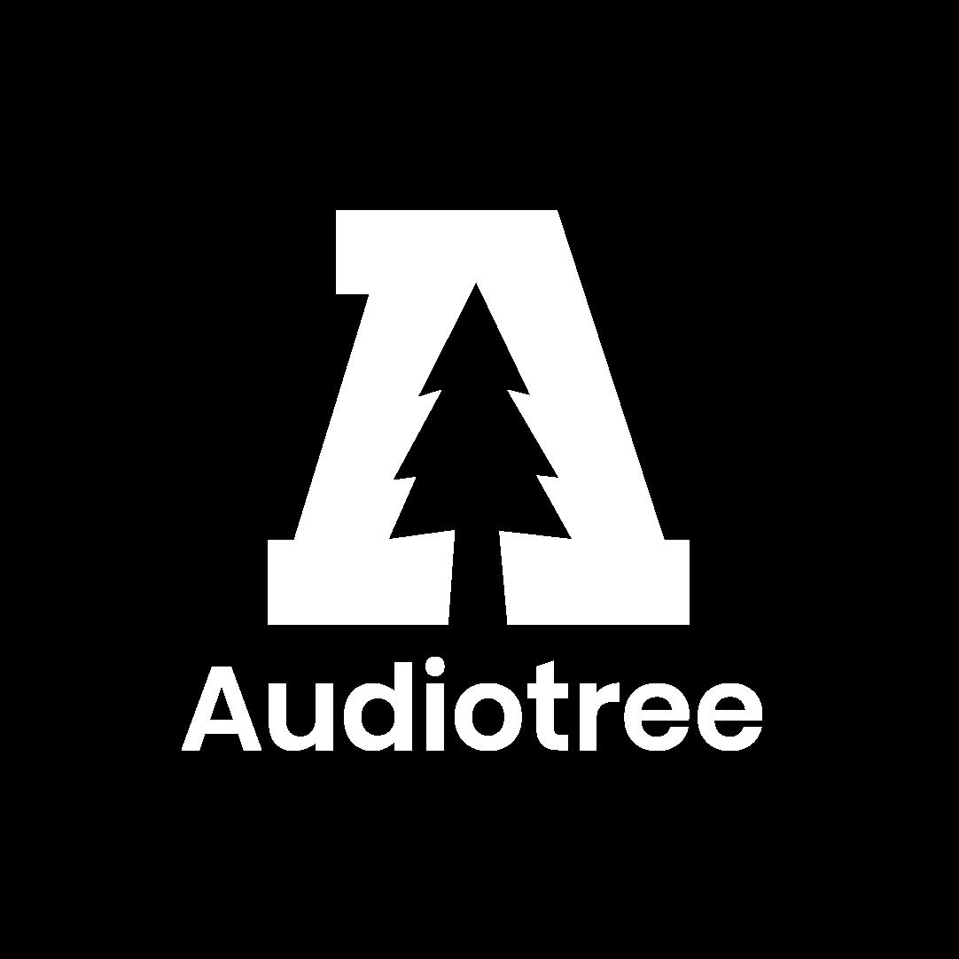 Audiotree Logo - White Vertical