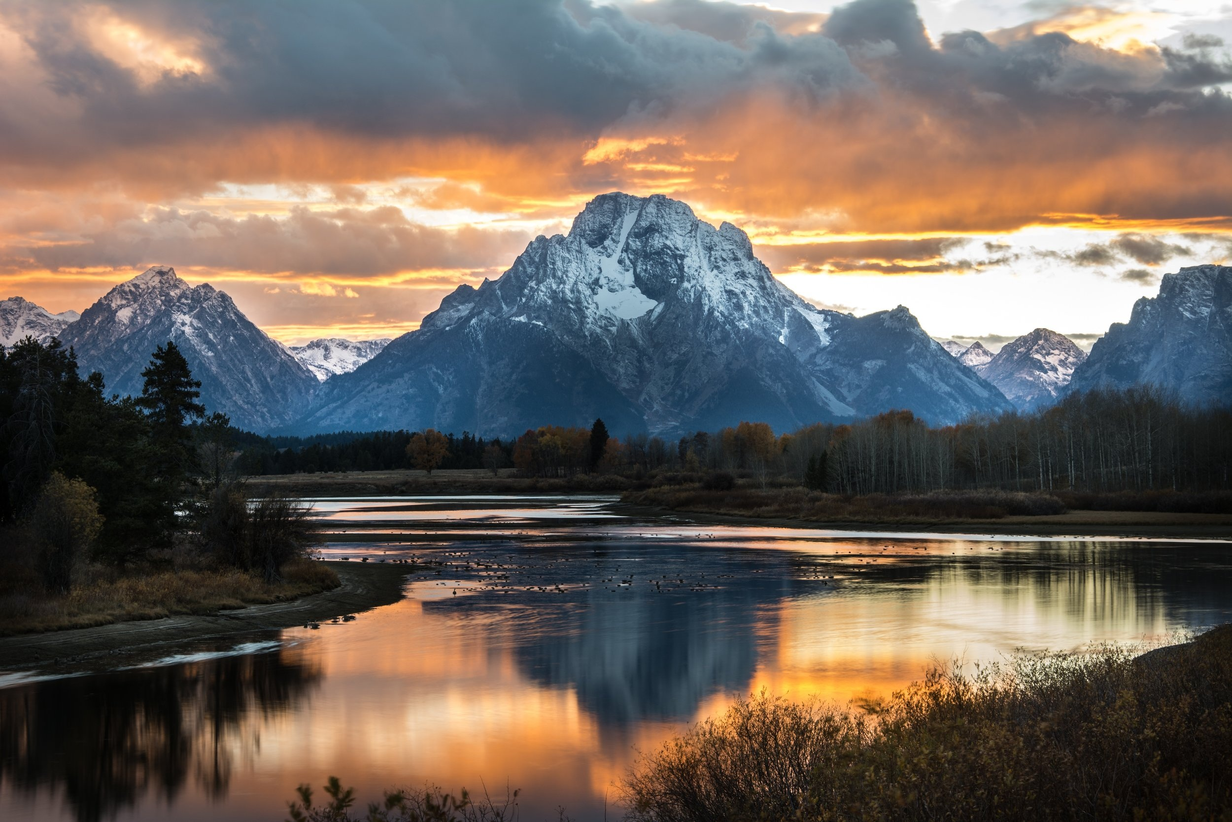 Sunset in Yellowstone National Park - Private Sunrise or sunset wildlife tours in Grand Teton National Park - Wyoming Guide Co