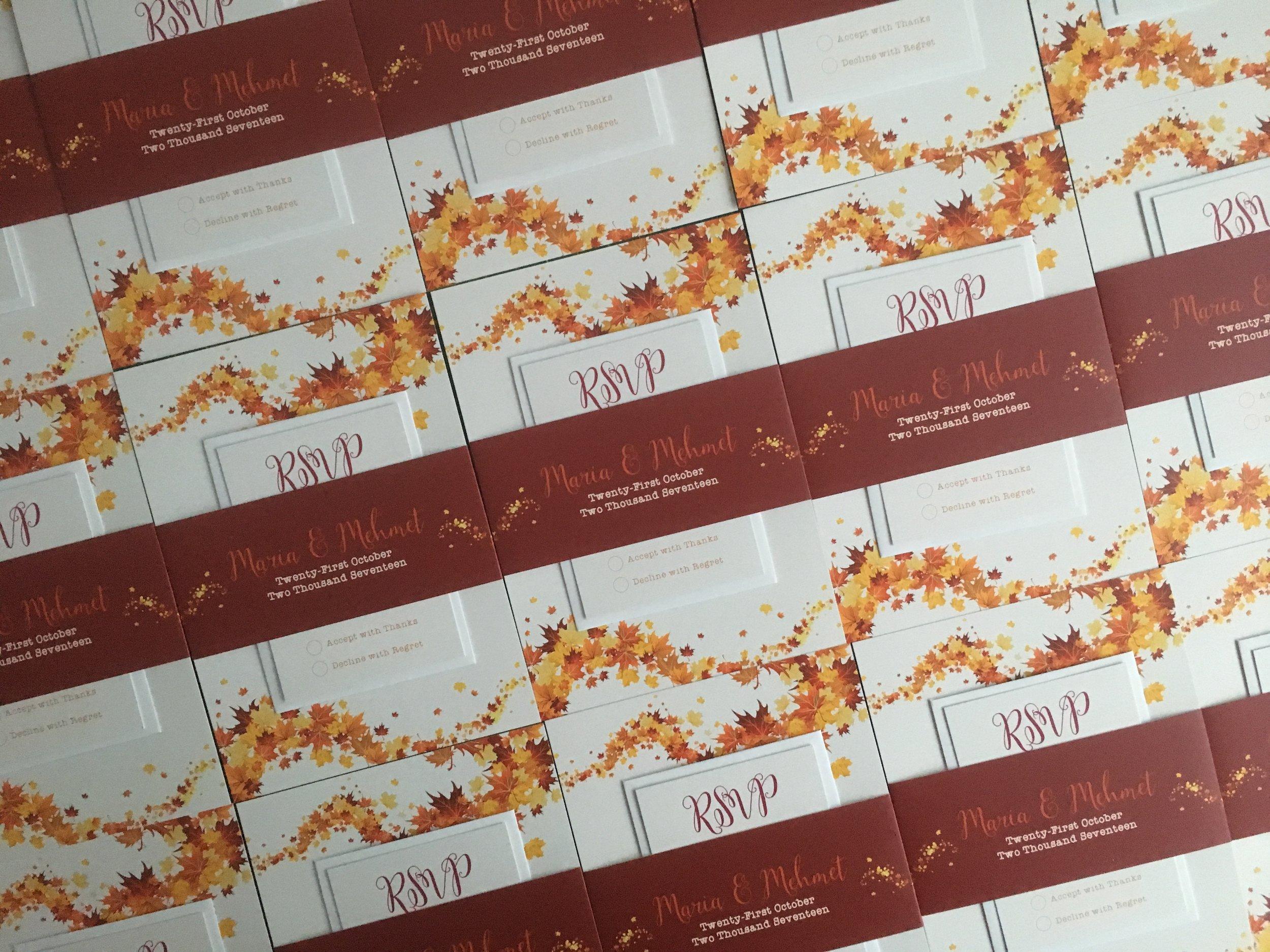 Burnt Oak - Autumn Wedding Invitations