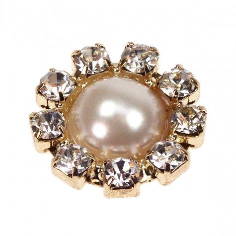 Gold Diamante Circle Mini