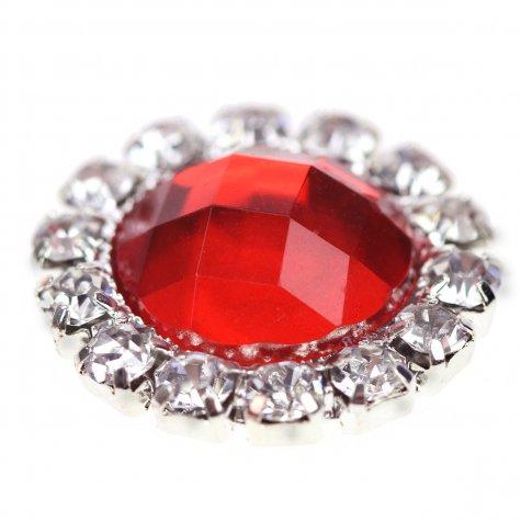 Circle Gem Poppy Red