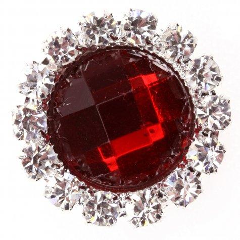 Circle Gem Regal Red