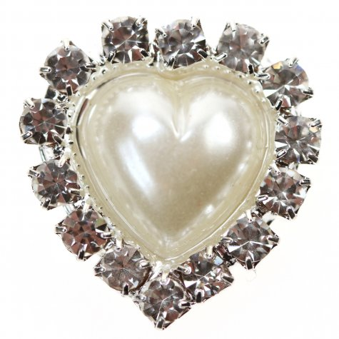 Diamante Pearl Heart