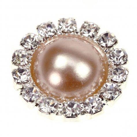 Diamante Circle Pearl Gold