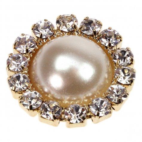 Gold Diamante Circle