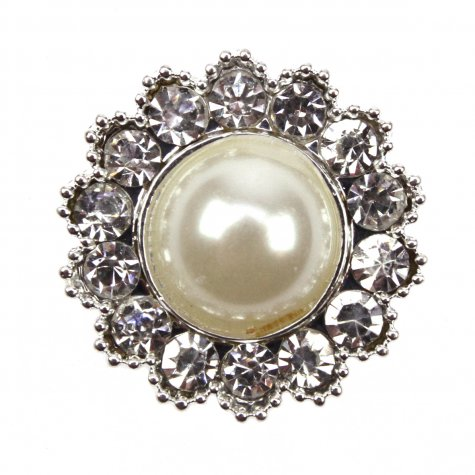 Diamante Circle Pearl