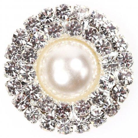 Diamante Circle Pearl circle duo