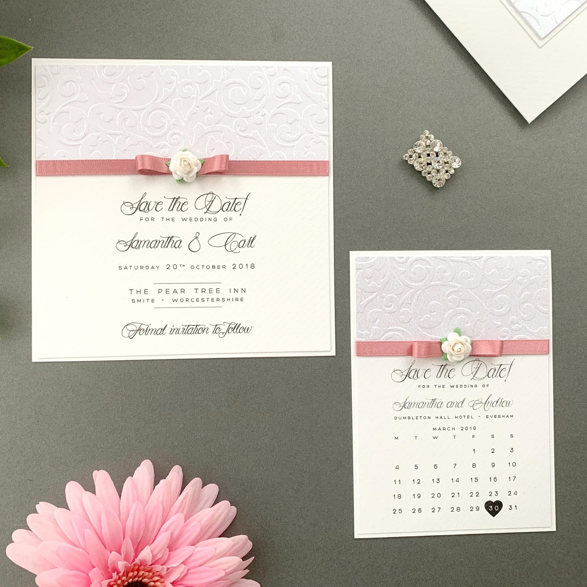 Atalanta Save The Date Card and Calendar