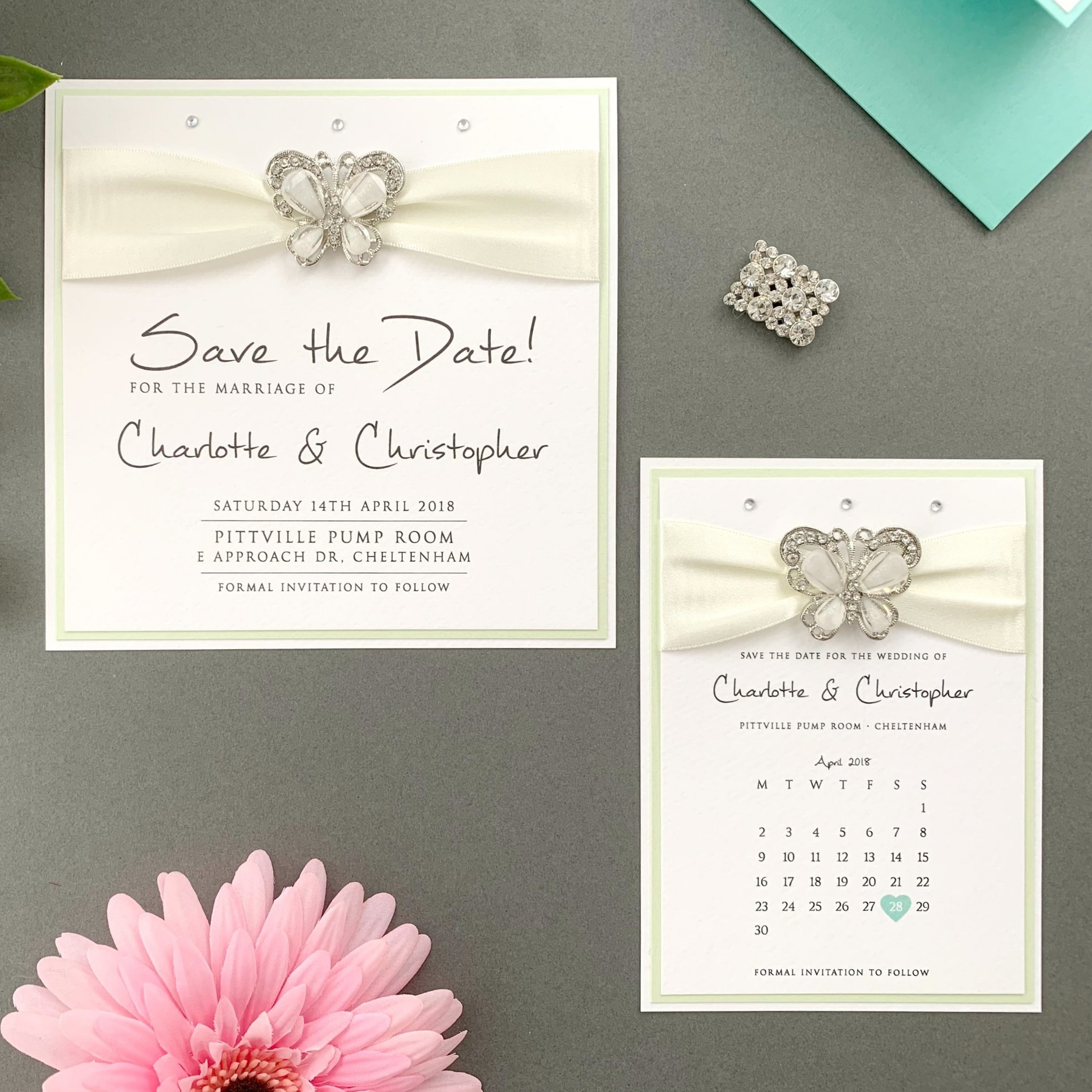 Athena Save The Date Card and Calendar