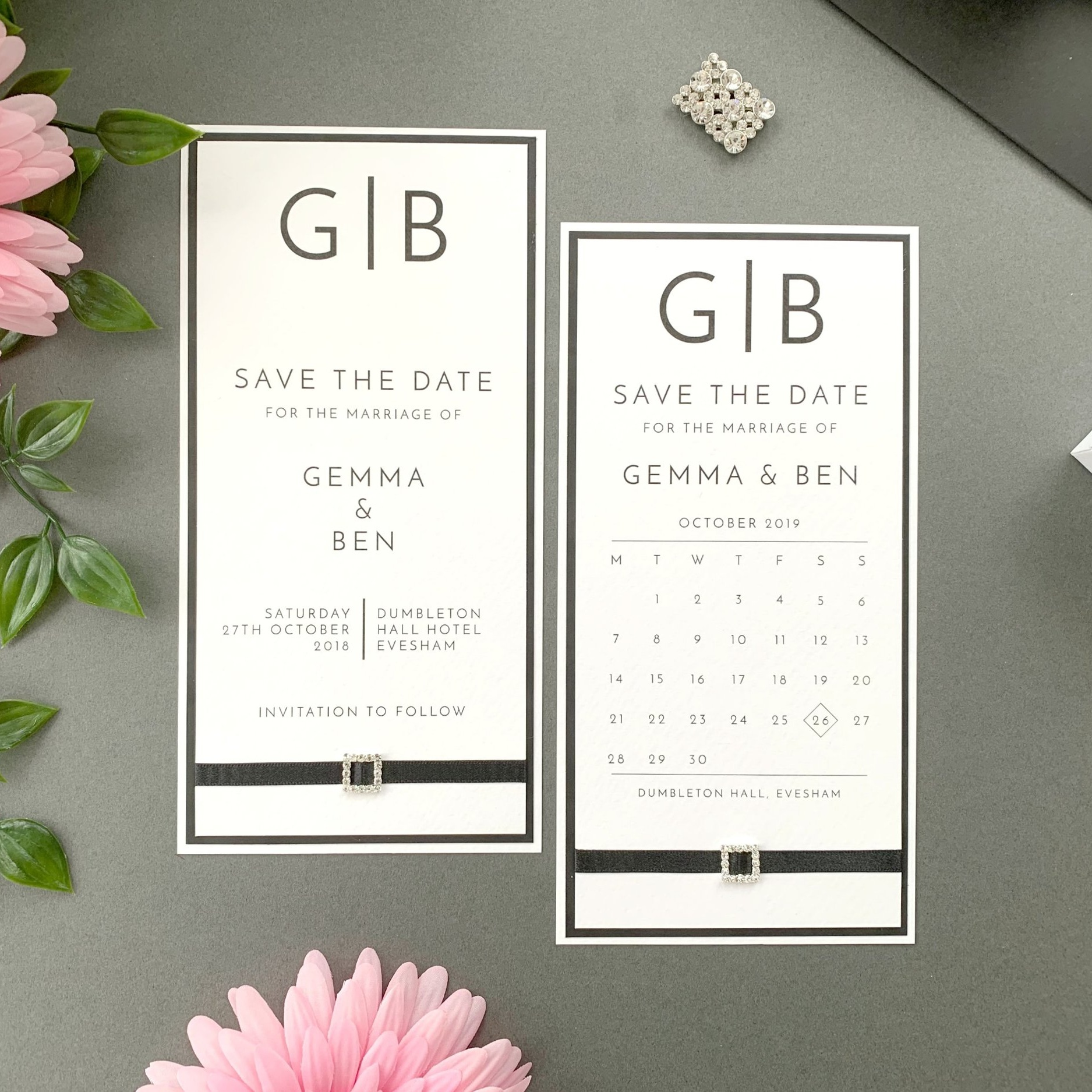 Clio Save The Date Card and Calendar