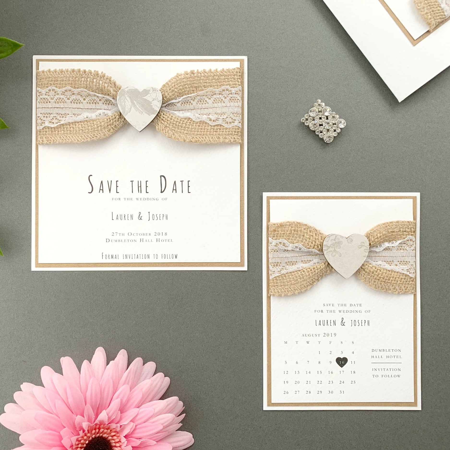 Freya Save The Date Card and Calendar