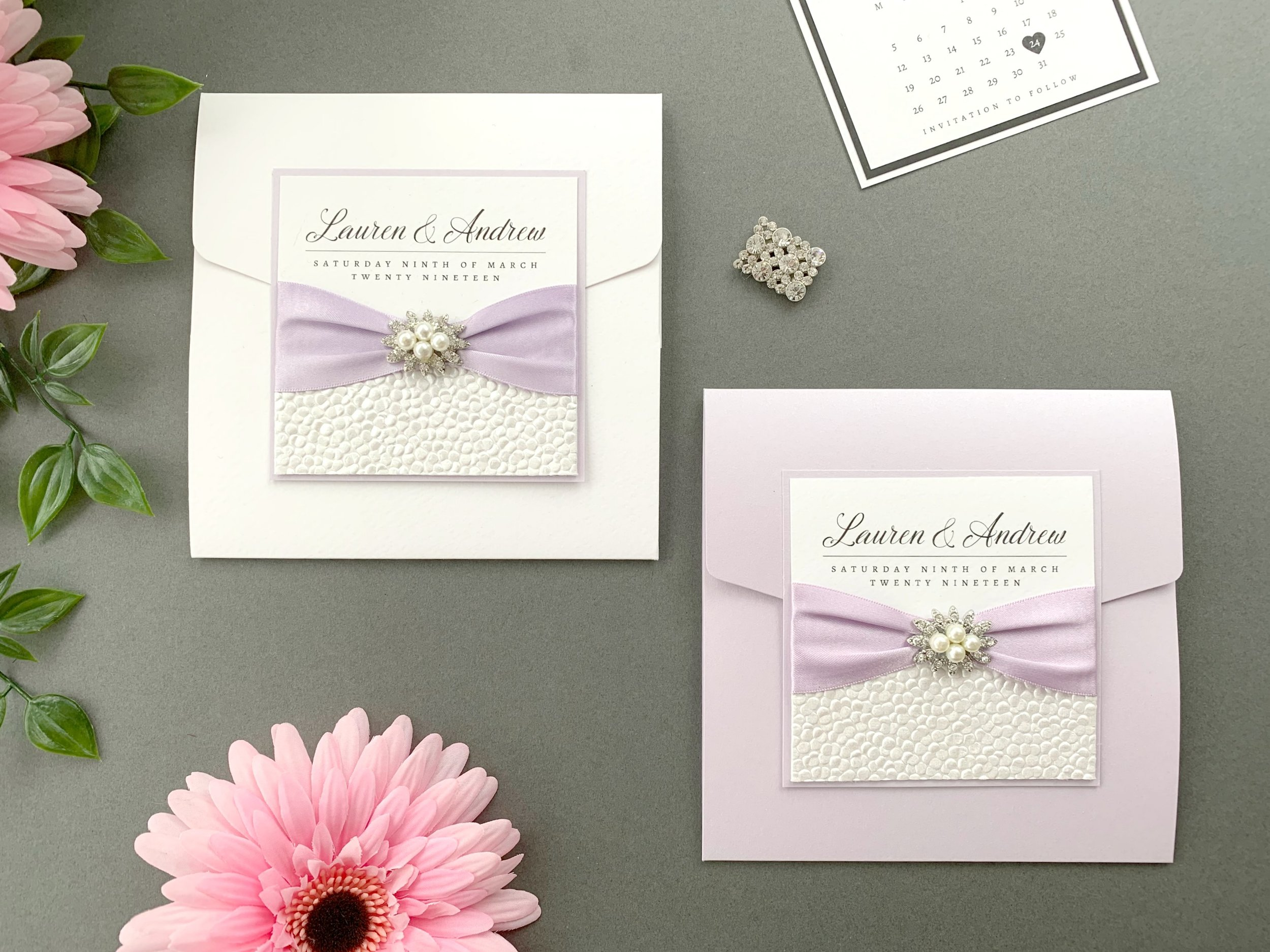 Standard and Coloured Pocketfold Invitation