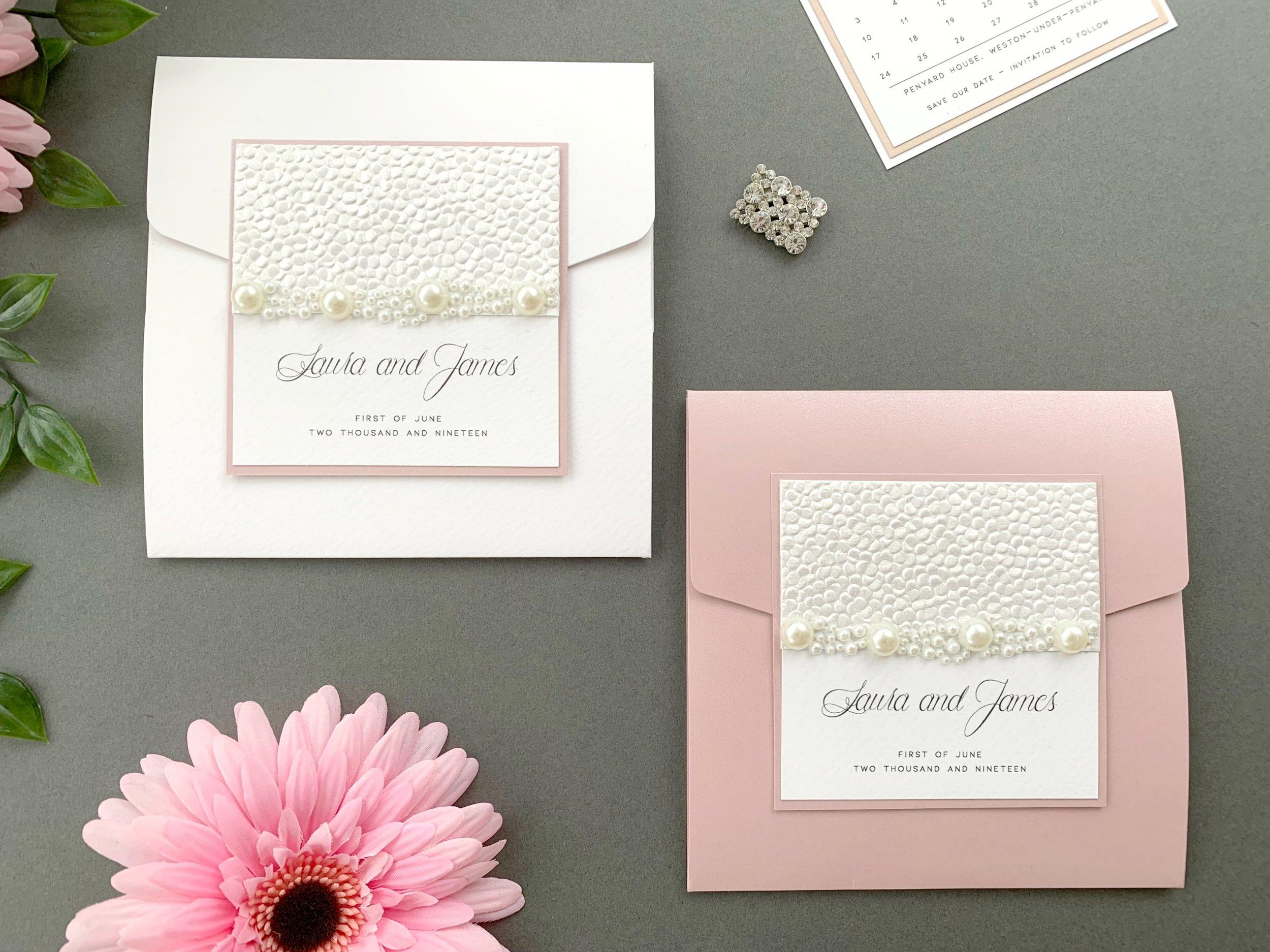 Standard & Coloured Pocketfold Invitation