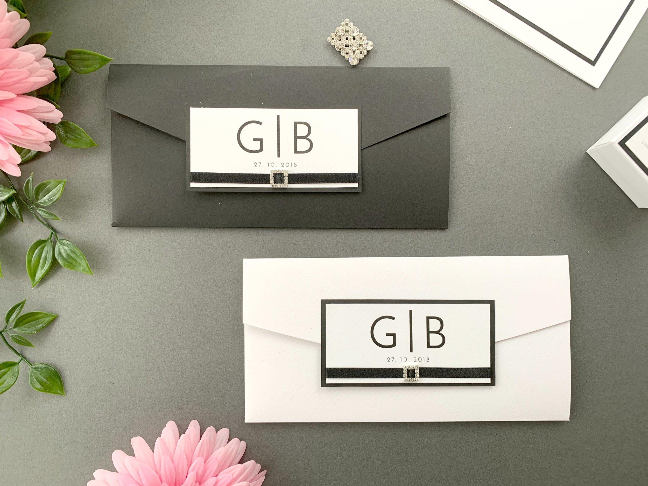 Coloured and Standard Pocketfold Invitations