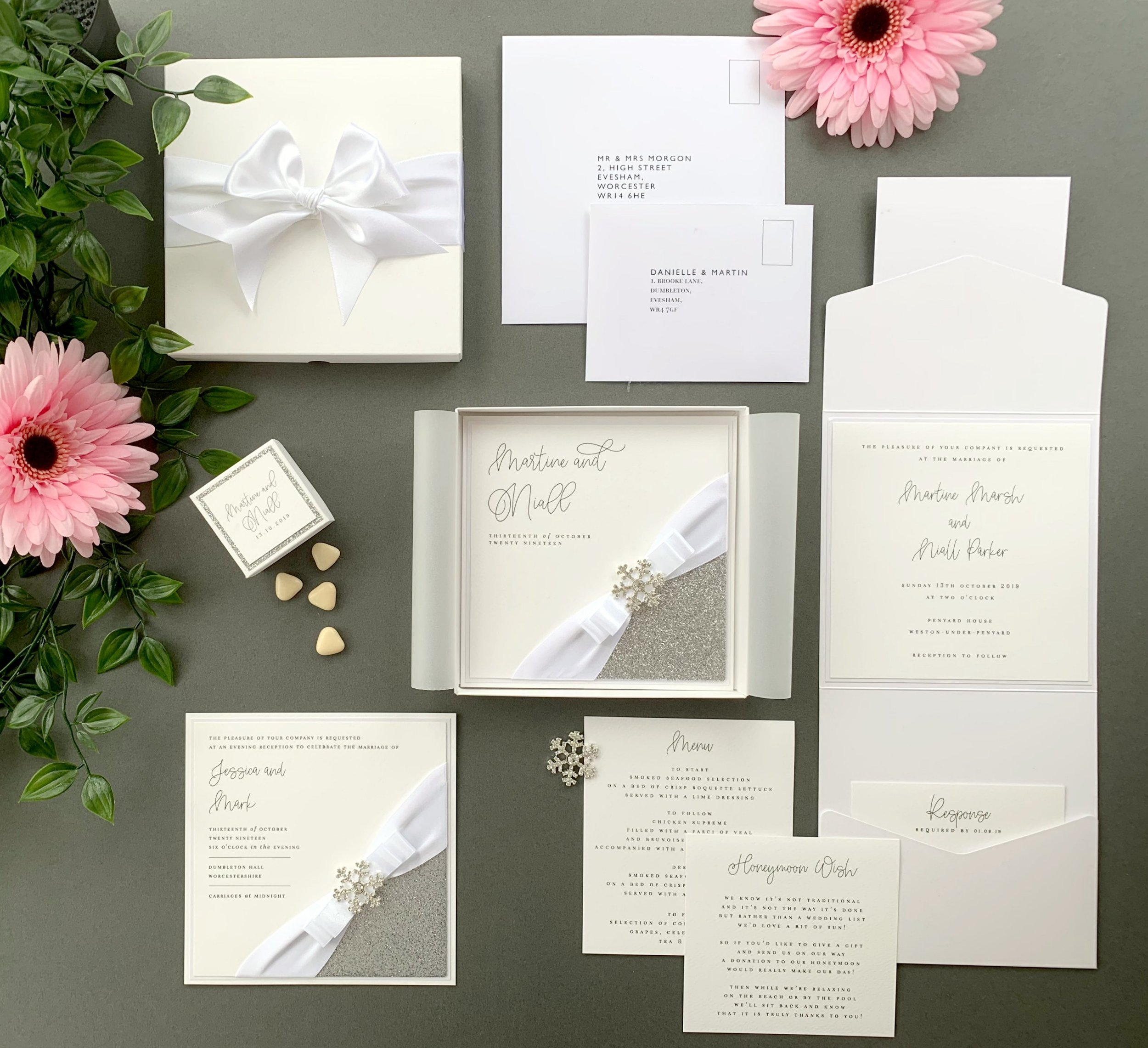 Leto Folded Invitation