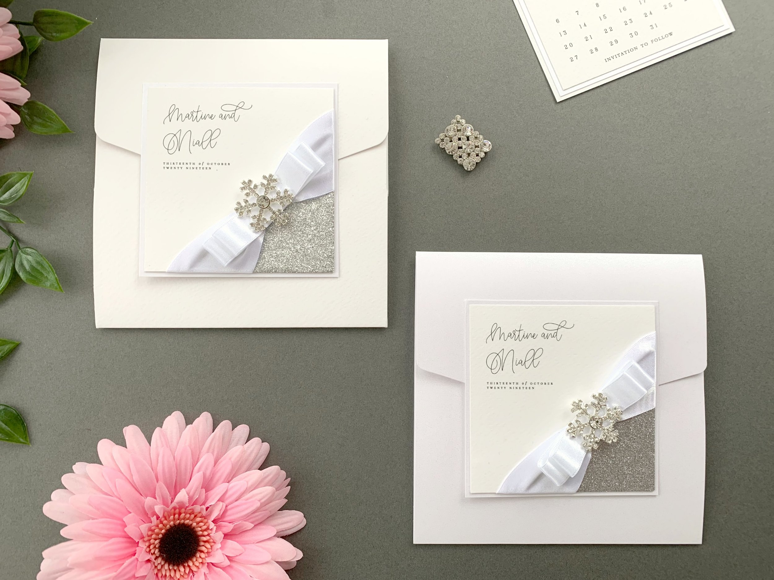 Standard and Coloured Pocketfold Invitations